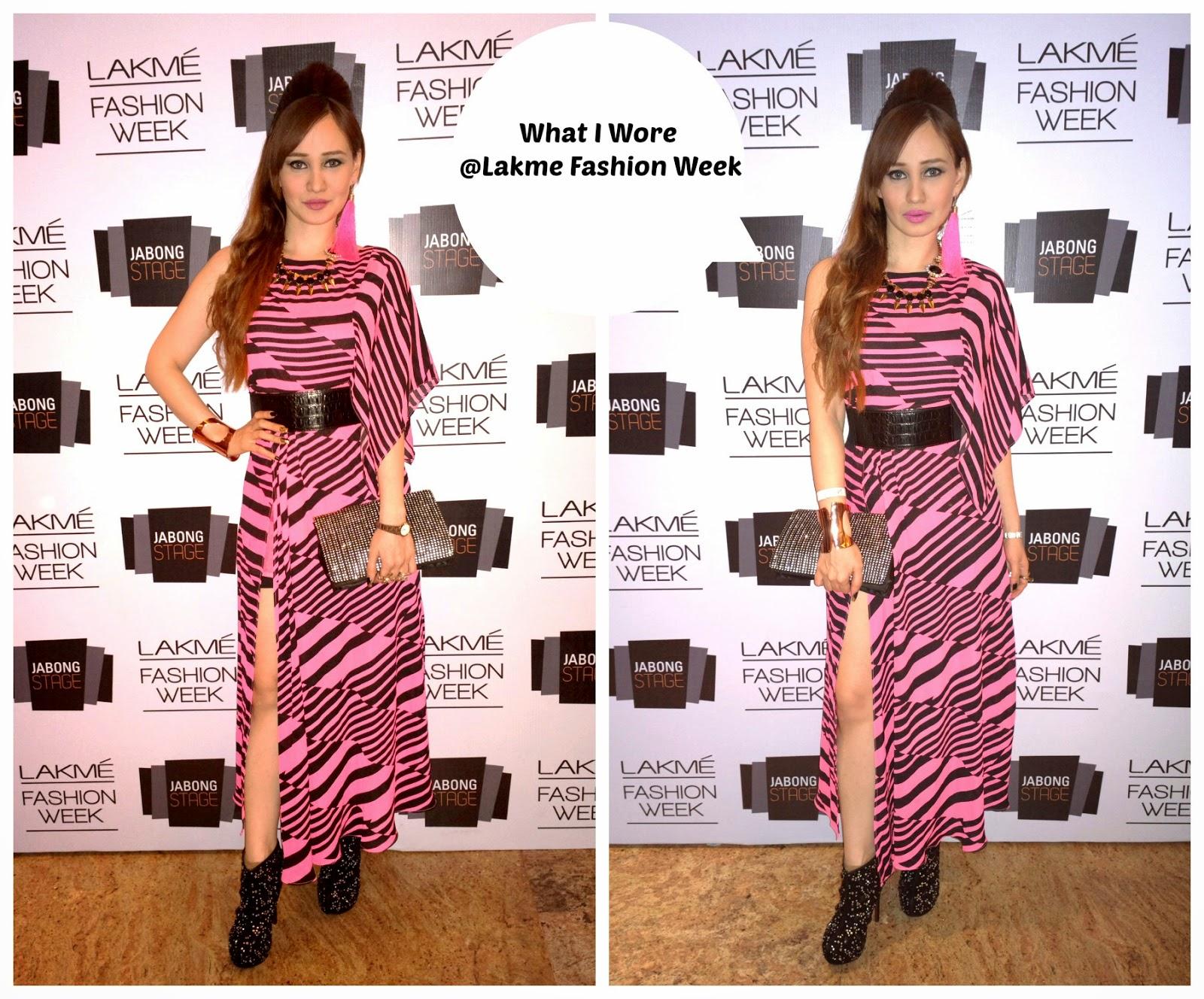 Black & Pink Maxi Dress 9