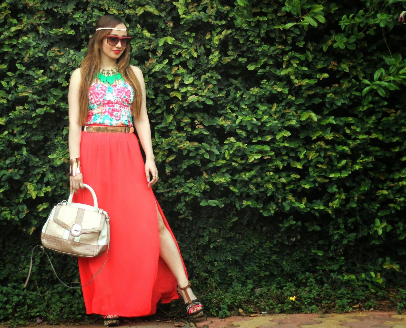 floral top & maxi skirt 3