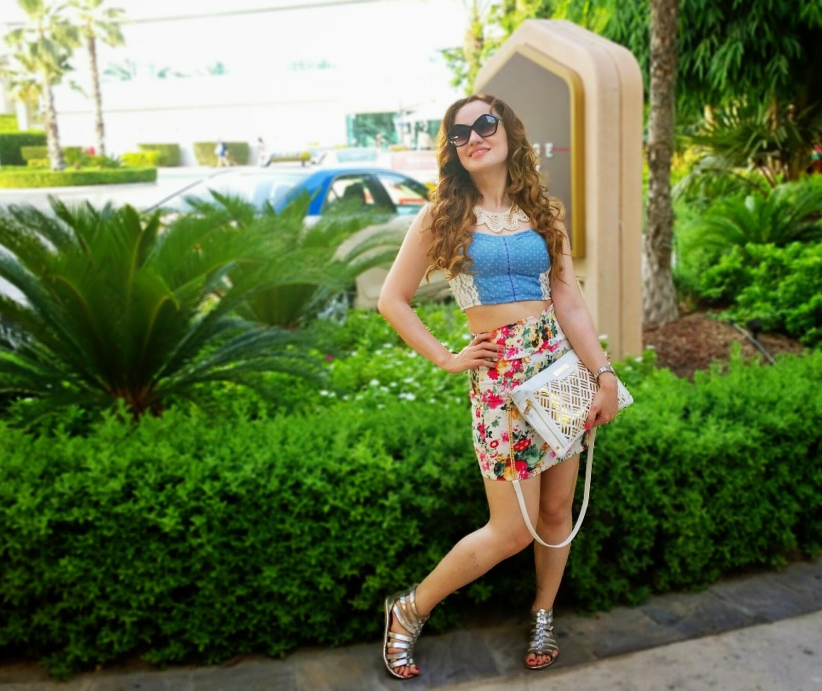 bralet & floral skirt 2