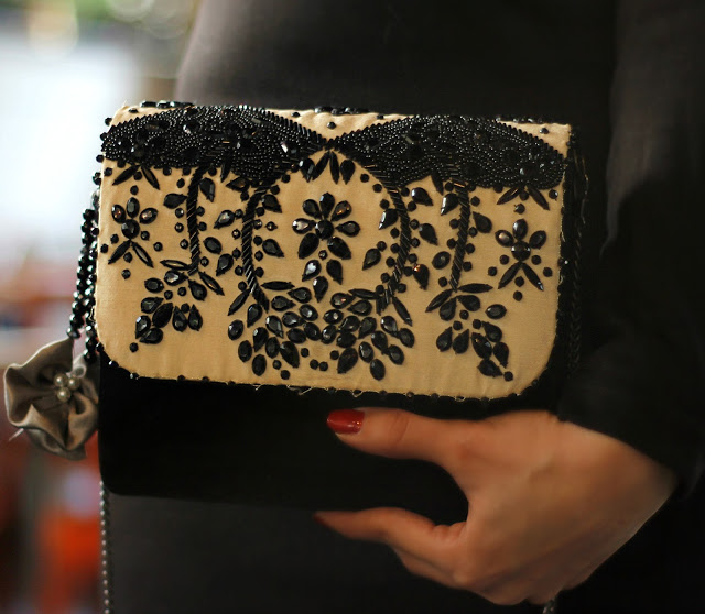 Black & White Embellished Bag, Clutch, Party Clutch