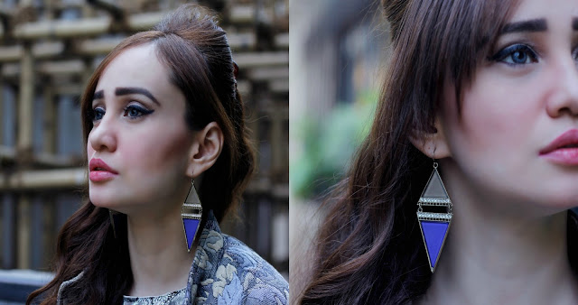 Triangle Shaped earrings, statement earrings
