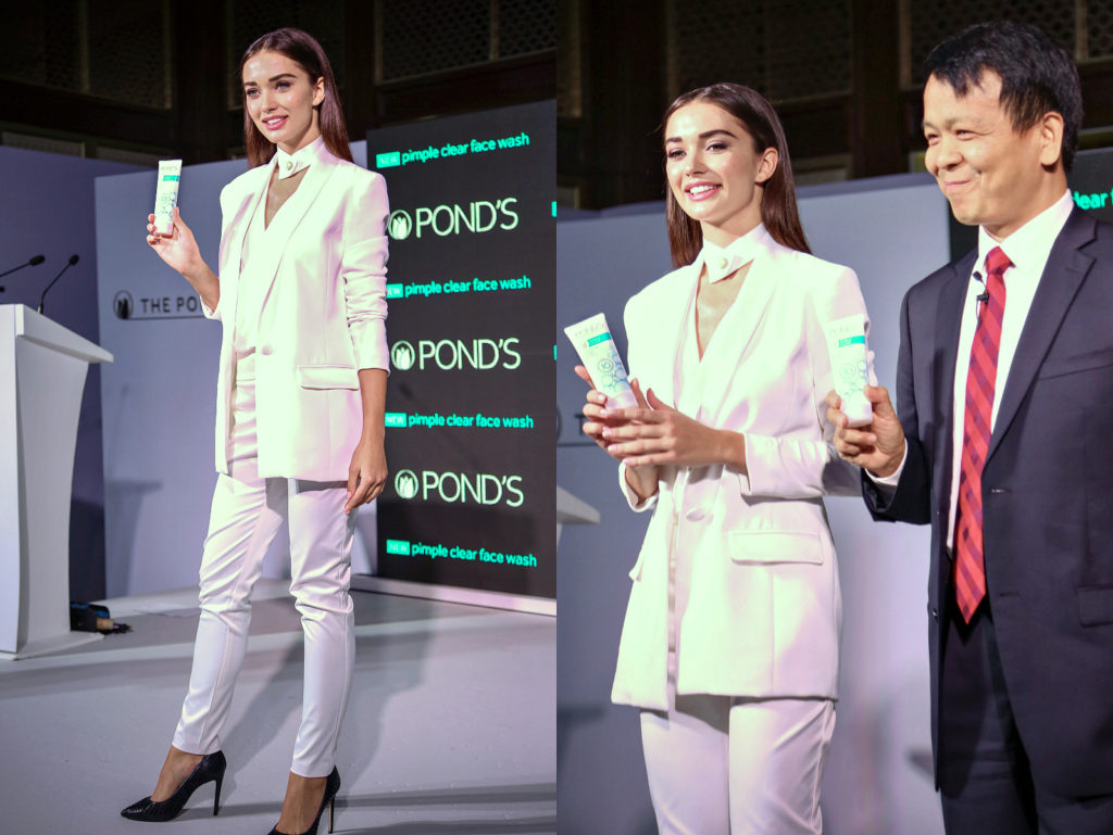 amy-jackson-unveils-the-ponds-pimple-clear-face-wash, The Pond's Institute Mumbai