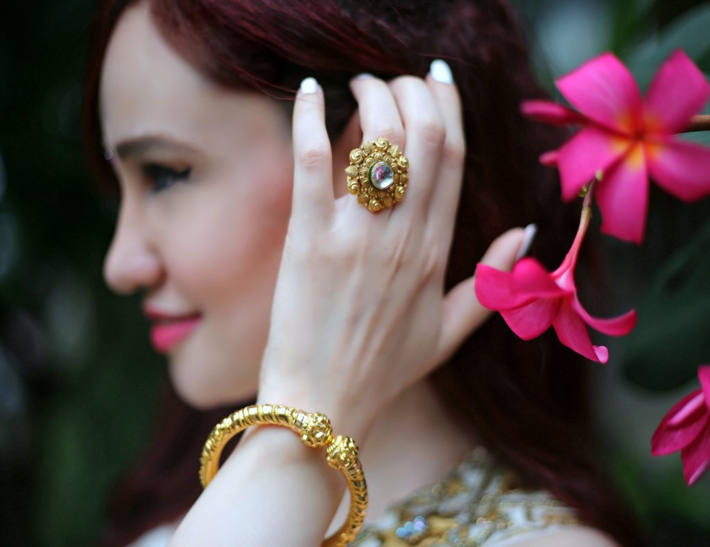 Joolz Jewellery, Gold Ring,Gold Bangle,Festive Look, Gold Jewelry