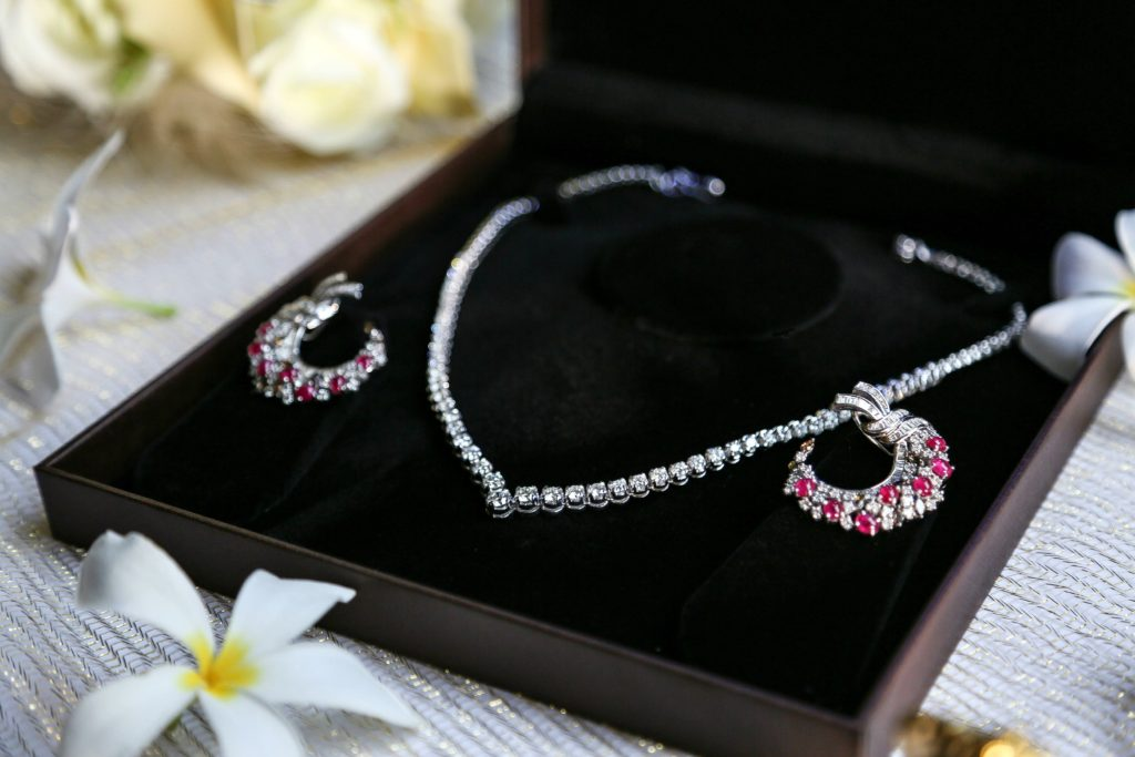 Joolz Jewellery, Diamond Necklace, Diamond and Ruby Earrings, Diamonds