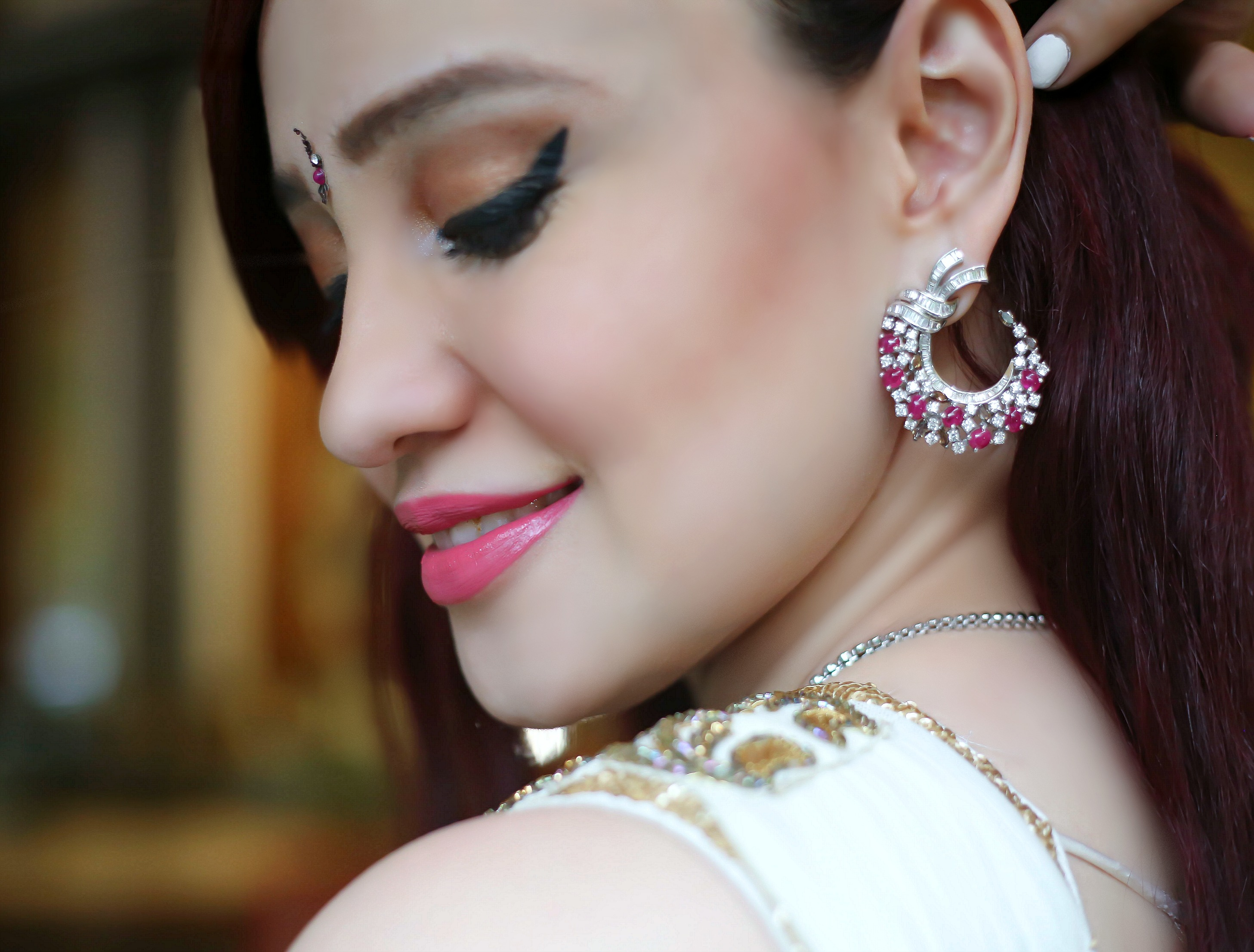 Joolz Jewellery, Diamond and Ruby Earrings