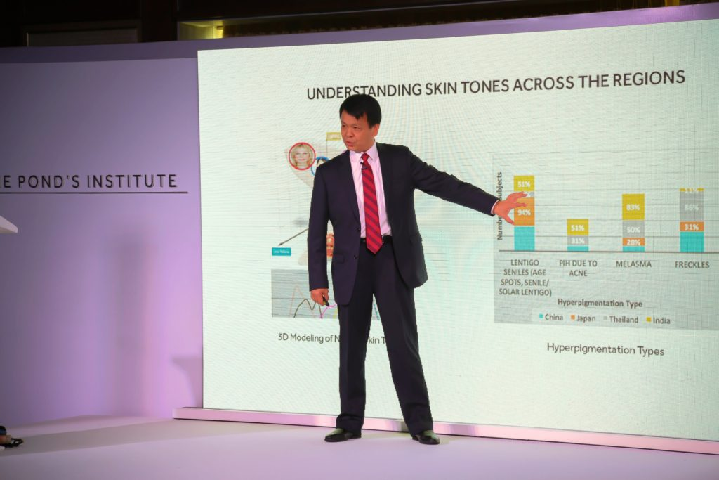 The Pond's Institute in Mumbai , Dr. Shuliang Zhang, Sr. Principal Scientist, and Global Clinical Leader for Skin Care at Unilever