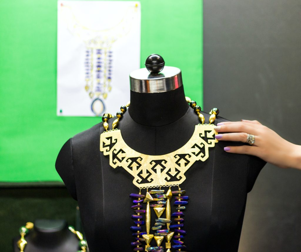 Armour Princess Necklace, Statement Necklace ,Feisty Fox For Go Bold, Shazé, Jewelry Design, Co-creation with a blogger