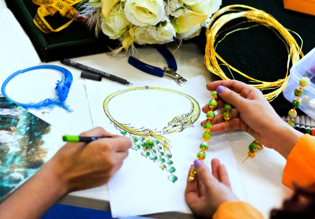 Dazzling Dragon, Semi-Choker, Necklace Sketch,Feisty Fox For Go Bold, Shazé, Jewelry Design, Co-creation with a blogger