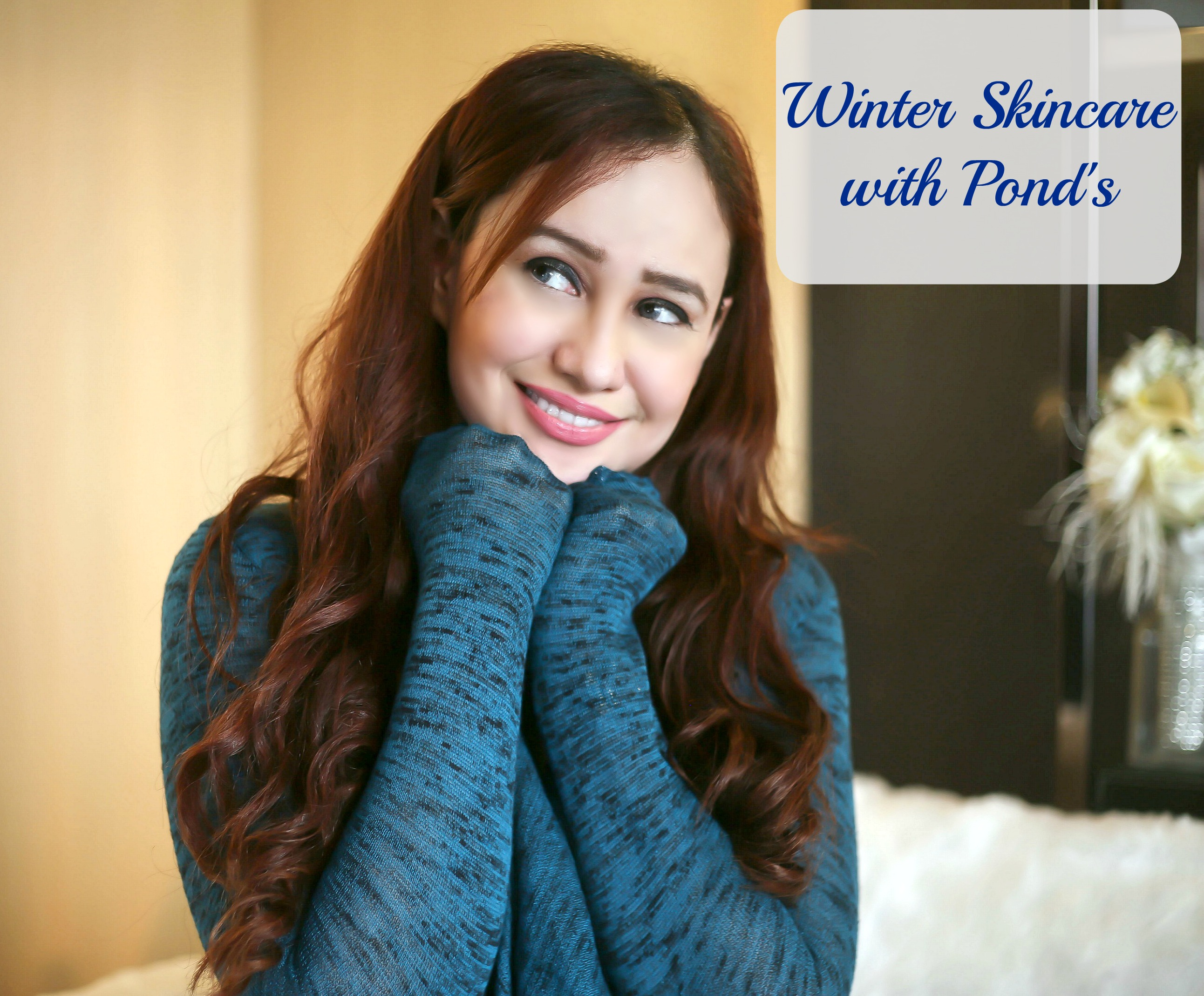winter skincare with Pond's