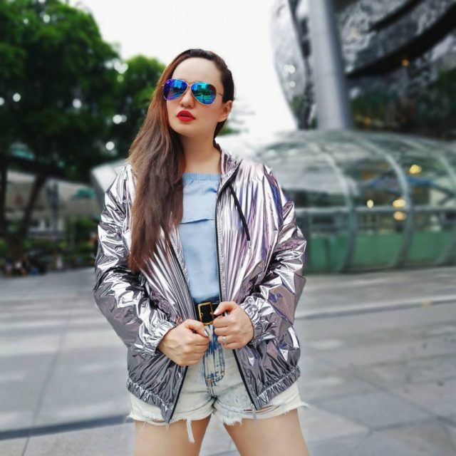 Metallic Mondays in Singapore    feistyfoxdiaries ootd fashionbloggerhellip