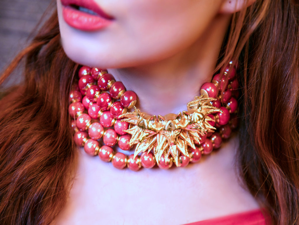 Shaze, Feisty Fox For Go Bold, Feisty Fox Necklace, Choker Necklace, Statement Necklace, Fashion Blogger Turned Jewelry Designer, Stephanie Timmins
